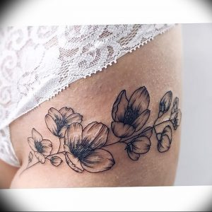 фото тату жасмин от 18.10.2017 №048 - tattoo jasmine - tattoo-photo.ru