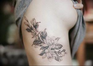 фото тату жасмин от 18.10.2017 №056 - tattoo jasmine - tattoo-photo.ru