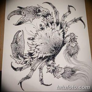 фото тату краб (рак) от 23.10.2017 №012 - tattoo crab (cancer) - tatufoto.com