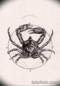 фото тату краб (рак) от 23.10.2017 №035 - tattoo crab (cancer) - tatufoto.com