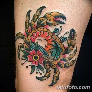 фото тату краб (рак) от 23.10.2017 №040 - tattoo crab (cancer) - tatufoto.com