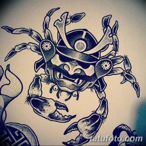 фото тату краб (рак) от 23.10.2017 №072 - tattoo crab (cancer) - tatufoto.com