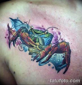 фото тату краб (рак) от 23.10.2017 №085 - tattoo crab (cancer) - tatufoto.com