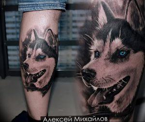 фото тату хаски от 07.10.2017 №020 - tatu husky - tattoo-photo.ru