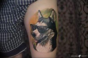 фото тату хаски от 07.10.2017 №029 - tatu husky - tattoo-photo.ru