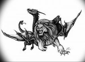 фото тату химера от 07.10.2017 №003 - Chimera Tattoo - tattoo-photo.ru