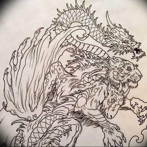 фото тату химера от 07.10.2017 №012 - Chimera Tattoo - tattoo-photo.ru
