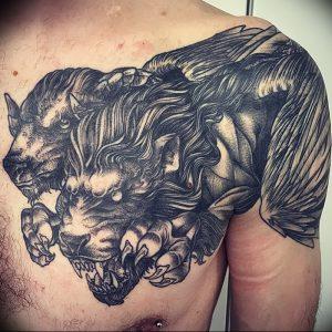 фото тату химера от 07.10.2017 №033 - Chimera Tattoo - tattoo-photo.ru