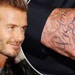 фото Тату Дэвида Бекхэма от 26.11.2017 №040 - Tattoo of David Beckham - tattoo-photo.ru
