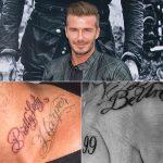 фото Тату Дэвида Бекхэма от 26.11.2017 №050 - Tattoo of David Beckham - tattoo-photo.ru