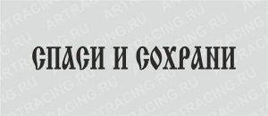 фото тату Спаси и сохрани от 05.12.2017 №003 - tattoo Save and Protect - tattoo-photo.ru