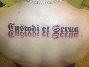 фото тату Спаси и сохрани от 05.12.2017 №007 - tattoo Save and Protect - tattoo-photo.ru