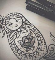 фото тату Матрешка от 25.12.2017 №004 — Matryoshka tattoo — tattoo-photo.ru
