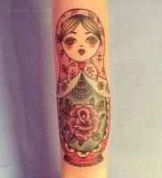 фото тату Матрешка от 25.12.2017 №007 — Matryoshka tattoo — tattoo-photo.ru