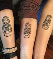 фото тату Матрешка от 25.12.2017 №008 — Matryoshka tattoo — tattoo-photo.ru