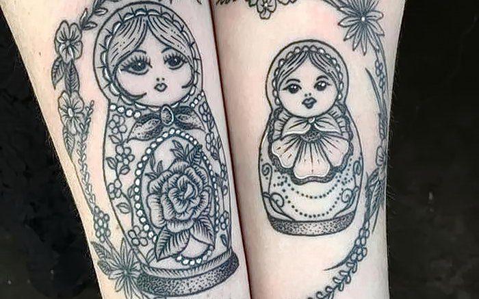 фото тату Матрешка от 25.12.2017 №102 - Matryoshka tattoo - tattoo-photo.ru