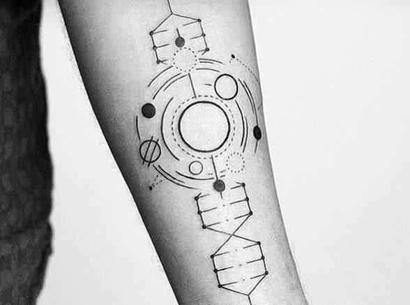 фото тату геометрические фигуры от 25.12.2017 №124 - tattoo geometric - tattoo-photo.ru