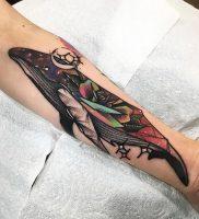 фото тату рыба кит от 07.12.2017 №147 — fish whale tattoo — tattoo-photo.ru