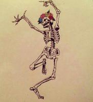фото тату скелет от 28.12.2017 №008 — tattoo skeleton — tattoo-photo.ru