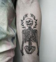 фото тату скелет от 28.12.2017 №010 — tattoo skeleton — tattoo-photo.ru