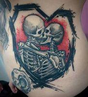 фото тату скелет от 28.12.2017 №019 — tattoo skeleton — tattoo-photo.ru