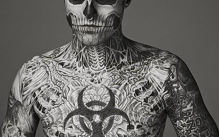фото тату скелет от 28.12.2017 №072 - tattoo skeleton - tattoo-photo.ru