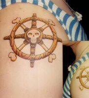 фото тату штурвал от 09.12.2017 №058 — tattoo steering wheel — tattoo-photo.ru