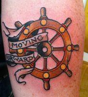 фото тату штурвал от 09.12.2017 №071 — tattoo steering wheel — tattoo-photo.ru