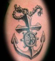 фото тату штурвал от 09.12.2017 №073 — tattoo steering wheel — tattoo-photo.ru