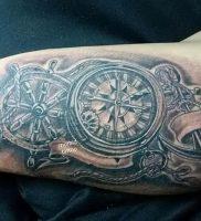 фото тату штурвал от 09.12.2017 №074 — tattoo steering wheel — tattoo-photo.ru