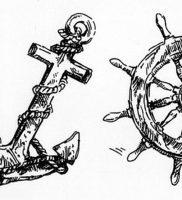 фото тату штурвал от 09.12.2017 №081 — tattoo steering wheel — tattoo-photo.ru