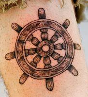 фото тату штурвал от 09.12.2017 №084 — tattoo steering wheel — tattoo-photo.ru
