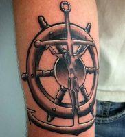 фото тату штурвал от 09.12.2017 №085 — tattoo steering wheel — tattoo-photo.ru