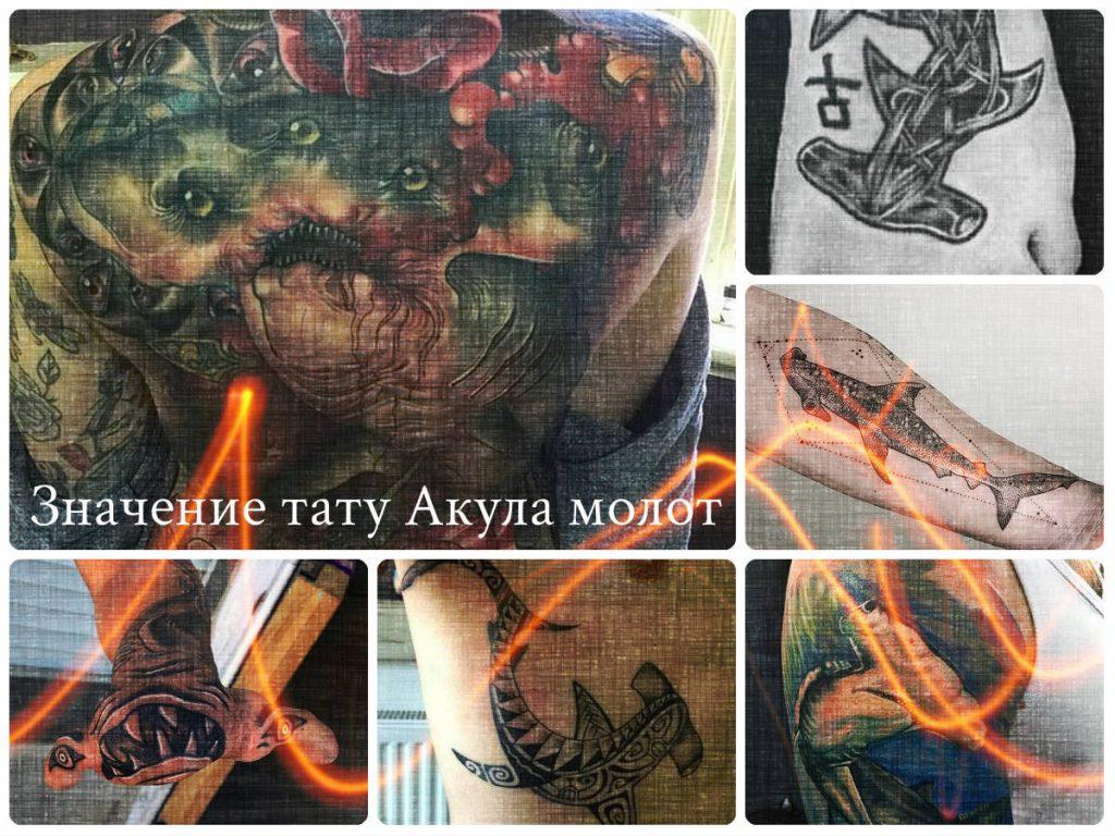 Значение тату Акула молот - фото коллекция оригинальных рисунков татуировки