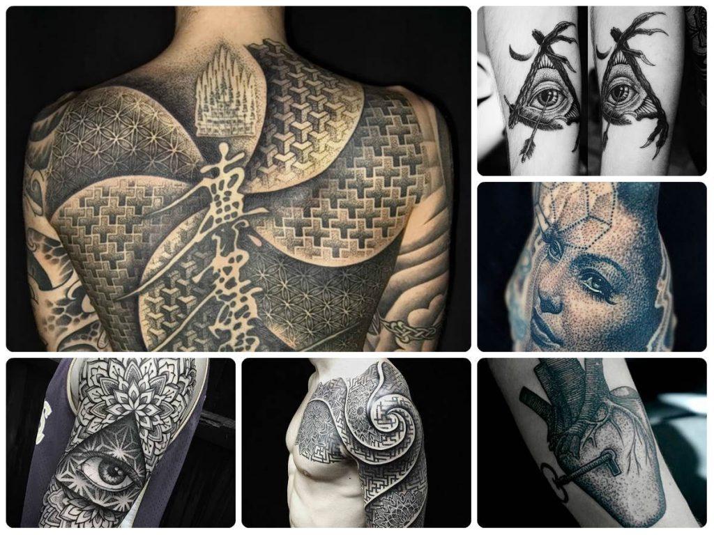 Значение тату Дотворк (Dotvork tattoo) - коллекция готовых рисунков татуировки на фото