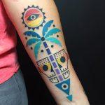 фото Абстрактные тату от 16.01.2018 №027 - Abstract tattoos - tattoo-photo.ru