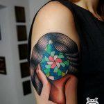 фото Абстрактные тату от 16.01.2018 №048 - Abstract tattoos - tattoo-photo.ru