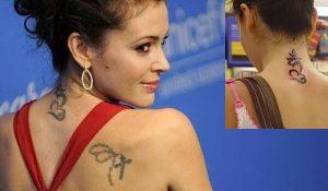 фото Тату Алиссы Милано от 10.03.2018 №004 - Tattoo by Alyssa Milano - tattoo-photo.ru