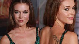 фото Тату Алиссы Милано от 10.03.2018 №007 - Tattoo by Alyssa Milano - tattoo-photo.ru