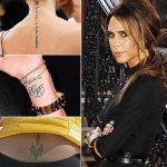 фото Тату Виктории Бекхем от 22.01.2018 №001 - Victoria Beckham Tattoo - tattoo-photo.ru