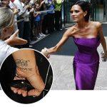 фото Тату Виктории Бекхем от 22.01.2018 №015 - Victoria Beckham Tattoo - tattoo-photo.ru