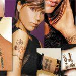 фото Тату Виктории Бекхем от 22.01.2018 №016 - Victoria Beckham Tattoo - tattoo-photo.ru