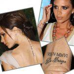 фото Тату Виктории Бекхем от 22.01.2018 №018 - Victoria Beckham Tattoo - tattoo-photo.ru