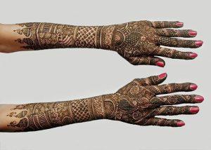 фото мехенди на руке от 10.03.2018 №009 - mehendi on hand - tattoo-photo.ru