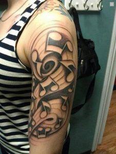 фото музыкальные тату от 08.03.2018 №038 - Musical Tattoos - tattoo-photo.ru