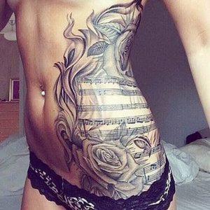 фото музыкальные тату от 08.03.2018 №062 - Musical Tattoos - tattoo-photo.ru