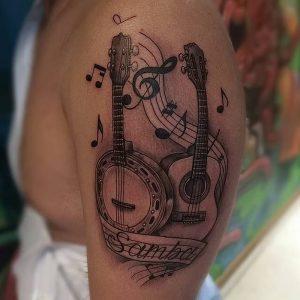 фото музыкальные тату от 08.03.2018 №096 - Musical Tattoos - tattoo-photo.ru