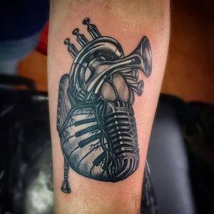 фото музыкальные тату от 08.03.2018 №098 - Musical Tattoos - tattoo-photo.ru