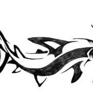 фото тату Акула молот от 23.01.2018 №011 — Tattoo Shark Hammer — tattoo-photo.ru