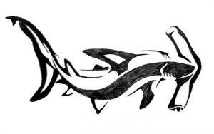 фото тату Акула молот от 23.01.2018 №011 - Tattoo Shark Hammer - tattoo-photo.ru